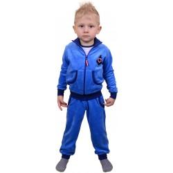 Велюровый костюм цвета электрик для мальчика