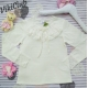 Блузка трикотажная молочного цвета