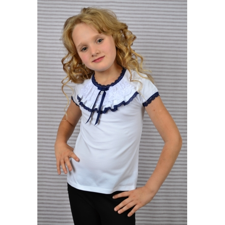 Блузочка трикотажная с коротким рукавом